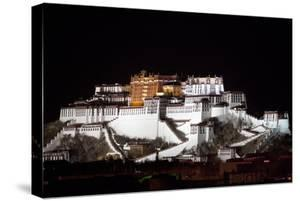 Potala Palace At Night by Kent Kobersteen