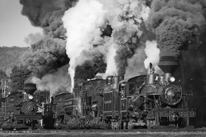 Shay Locomotives #11 (1923), #5 (1905) and #6 (1945), and Heisler Locomotive #6 (1929) by Kent Kobersteen