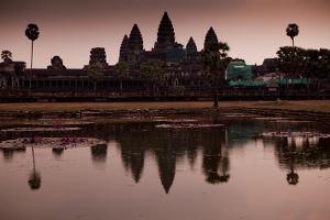 Sunrise At Angkor Wat, Cambodia by Kent Kobersteen