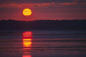 Sunrise over the Occoquan River, Looking in the Direction of Mason Neck by Kent Kobersteen