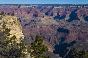Tourist Enjoy a View of the Vast Grand Canyon from Mather Point by Kent Kobersteen