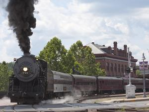 Western Maryland Scenic Railraod 2-8-0 No.734 Departs the Depot by Kent Kobersteen