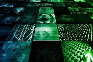 Cybernetics Mechanical Design as a Blueprints Art by kentoh