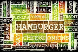Hamburger Menu in a American Fast Food Restaurant by kentoh