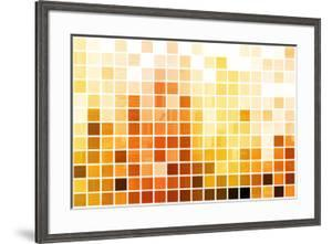 Orange Cubic Professional Abstract Background by kentoh