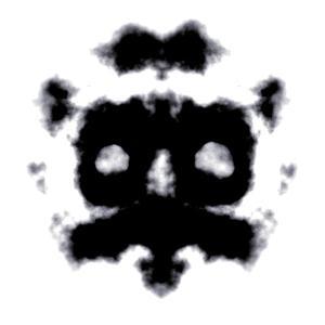Rorschach Test Of An Ink Blot Card by kentoh