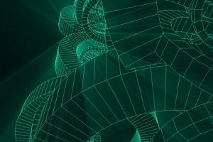 Wireframe Abstract with Geometric Glowing Line or Lines by kentoh