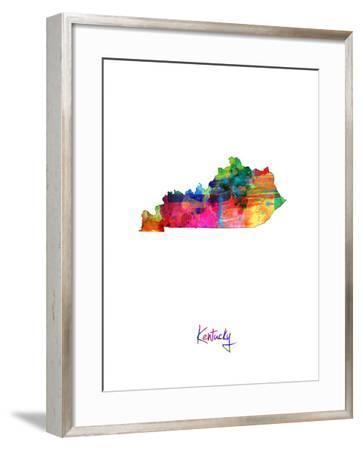 Kentucky Map-Michael Tompsett-Framed Art Print
