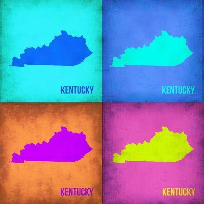 Kentucky Pop Art Map 1-NaxArt-Art Print