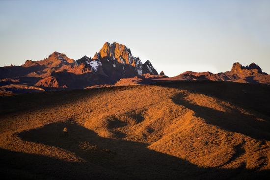 Kenya, Mount Kenya, Rutundu. Mount Kenya at Sunrise from the Northeast.-Nigel Pavitt-Photographic Print
