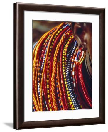 Kenya, Samburu Woman Wearing Decorative Beads-Thomasin Magor-Framed Photographic Print