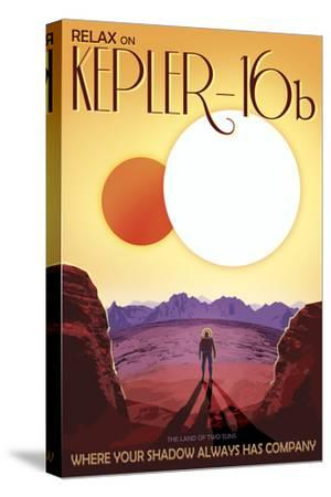 Kepler-16B Orbits a Pair of Stars in This Retro Space Poster