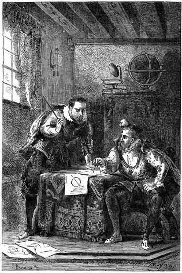 Kepler and Brahe at Work Together (C160), C1870--Giclee Print