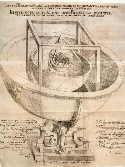 Kepler's Universe, 1596-Johannes Kepler-Giclee Print