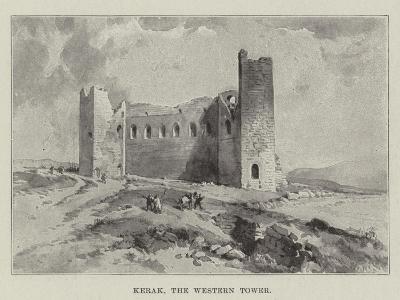 Kerak, the Western Tower--Giclee Print