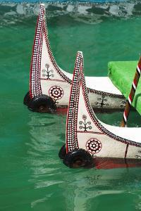 Aboriginal people's canoe, Sun Moon Lake, Taiwan by Keren Su