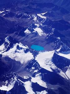 Aerial View of Snow-Capped Peaks on the Tibetan Plateau, Himalayas, Tibet, China by Keren Su