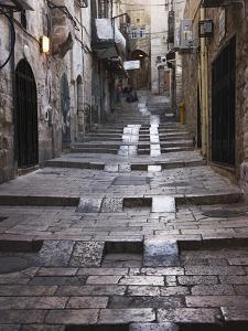 Ancient Street in the Old Town, Jerusalem, Israel by Keren Su
