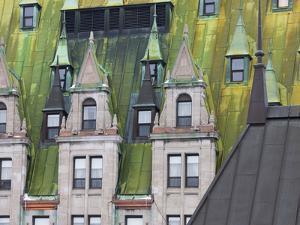 Architectural Details of Chateau Frontenac Hotel, Quebec City, Canada by Keren Su