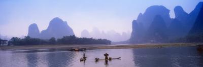 Bamboo Raft On The Li River, Yangshuo, Guangxi, China by Keren Su