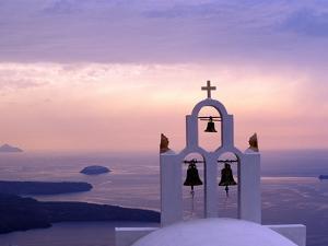 Belltower at Sunrise, Mykonos, Greece by Keren Su