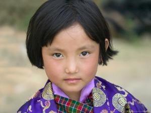 Bhutanese Girl, Wangdi, Bhutan by Keren Su