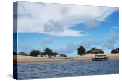 Boats and Sand Dune Along the Preguicas River, Maranhao State, Brazil