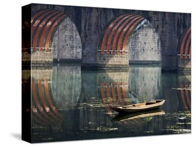 Bridge and Boat on Wuyang River, Zhenyuan, Guizhou, China