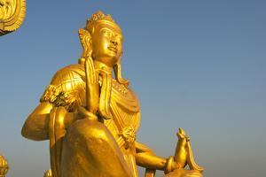 Buddhist statue in Golden Temple, Bandarban, Chittagong Division, Bangladesh by Keren Su