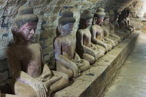 Buddhist Statues in Shitthaung Temple, Mrauk-U, Rakhine State, Myanmar by Keren Su