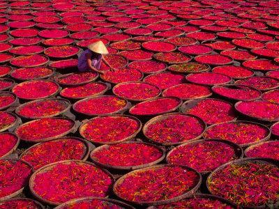 Candy Drying in Baskets, Vietnam