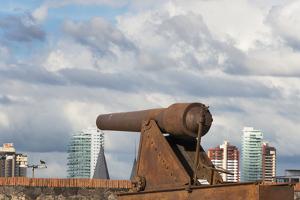 Cannon in Forte Do Castelo, Belem, Para State, Brazil by Keren Su