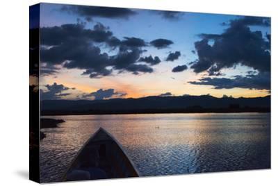 Canoe on Inle Lake at Sunset, Shan State, Myanmar