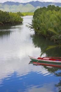 Canoe on the River, Bohol Island, Philippines by Keren Su