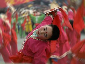 Children Celebrating Chinese New Year, Beijing, China by Keren Su