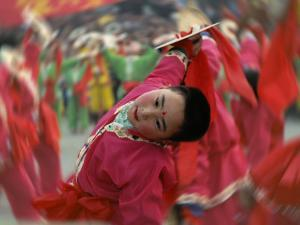 Children Celebrating Chinese New Year, Beijing, China by Keren Su