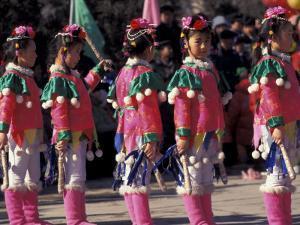 Children's Performance Celebrating Chinese New Year, Beijing, China by Keren Su