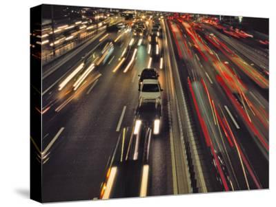 China, Beijing, Night View of Traffic on the Freeway