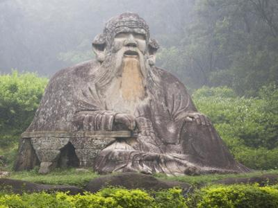 China, Fujian Province, Quanzhou, Statue of Lao-Tzu by Keren Su