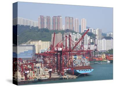 China, Hong Kong, Busy Harbor with Ships and Containers