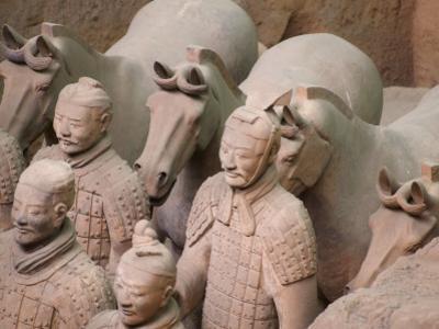China, Shaanxi Province, Xian, Terra Cotta Warriors in Emperor Qinshihuangdi's Tomb by Keren Su
