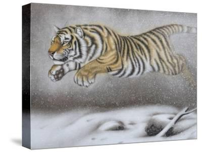 China, Tianjin, Painting of Tiger on Snow
