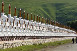 Chortens of Huiyuan Temple, Bamei, Garze Tibetan Autonomous Prefecture, western Sichuan, China by Keren Su