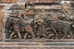Close-up of relief carving, Puthia Temple Complex, Rajshahi Division, Bangladesh by Keren Su