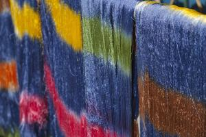 Colorful silk threads, Mandalay, Myanmar by Keren Su
