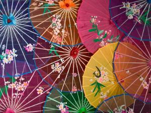 Colorful Silk Umbrellas, China by Keren Su