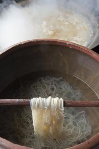 Cooking noodles, Pengzhen, Chengdu, Sichuan Province, China by Keren Su