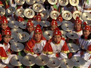 Cymbals Performance at Chinese New Year Celebration, Beijing, China by Keren Su