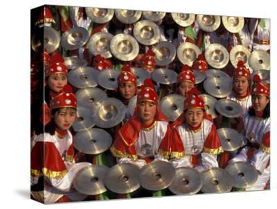 Cymbals Performance at Chinese New Year Celebration, Beijing, China
