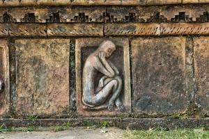 Detailed stone carving, Somapura Mahavihara, Rajshahi Division, Bangladesh by Keren Su